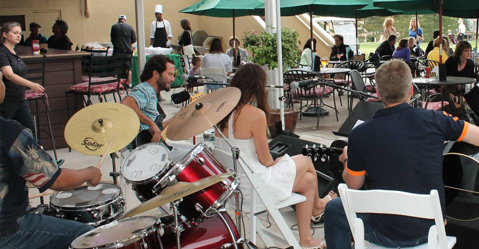 Music on the patio at the Lone Tree Grill in 2014