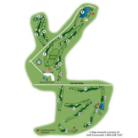 Lone Tree Golf Club and Hotel Course Map Thumbnail 170313