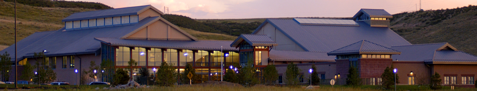 Lone Tree Recreation Center at twilight