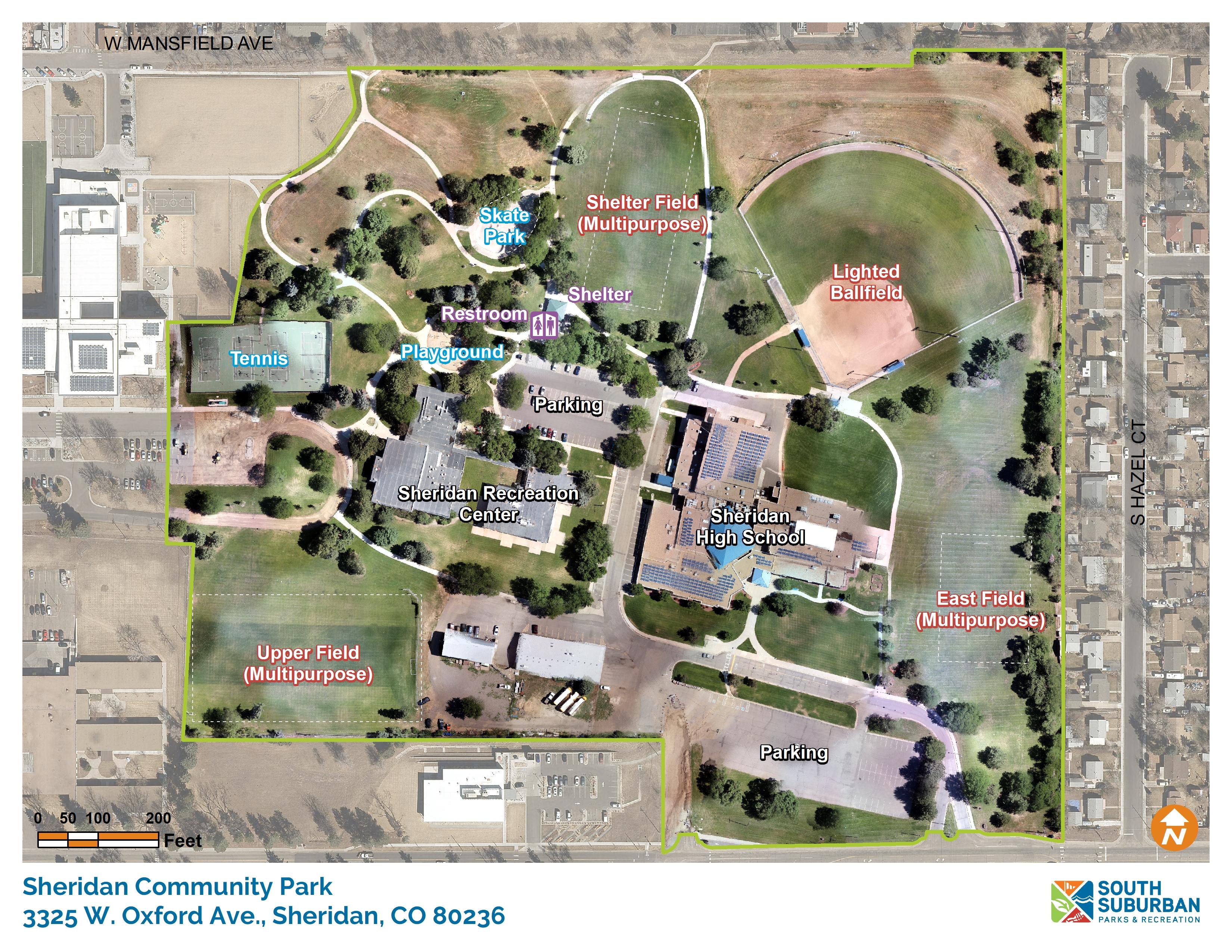 Sheridan Colorado Map.Sheridan Community Park South Suburban Parks And Recreation
